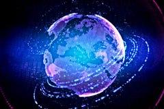 Высокотехнологичный глобус Стоковое Изображение