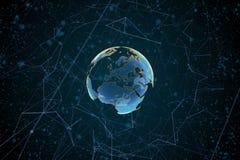 Высокотехнологичный глобус Стоковые Изображения