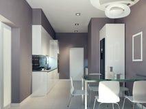 Высокотехнологичный дизайн кухни Стоковые Фото