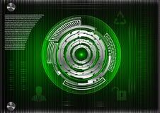 Высокотехнологичный Коммерческая статистика на зеленой предпосылке иллюстрация вектора