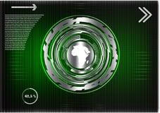 Высокотехнологичный Коммерческая статистика на зеленой предпосылке Стоковая Фотография RF
