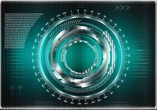 Высокотехнологичный Коммерческая статистика на предпосылке бирюзы Стоковое Изображение