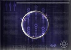 Высокотехнологичный Коммерческая статистика на синей предпосылке Стоковые Изображения RF