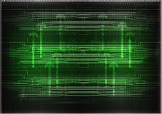 Высокотехнологичный Комплект линий на зеленой предпосылке Стоковые Фото