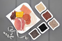 Высоко- еда диеты протеина Стоковое фото RF