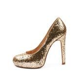 Высоко-накрененный изолированный ботинок обуви стоковые фото
