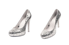 Высоко-накрененный изолированный ботинок обуви стоковая фотография rf