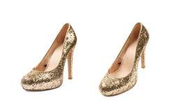 Высоко-накрененный изолированный ботинок обуви стоковая фотография