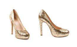 Высоко-накрененный изолированный ботинок обуви стоковые изображения rf