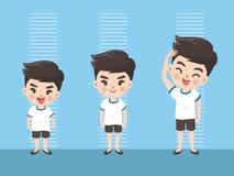Высота мальчика вырасти вверх бесплатная иллюстрация