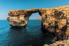 Высота Мальта окна Gozo лазурная Стоковые Фото