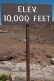 Высота 10000 футов знака Стоковое Фото