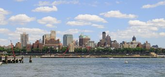 высоты New York города brooklyn стоковое фото rf