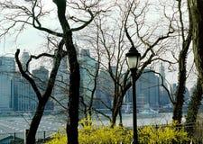 высоты New York города brooklyn Стоковые Фото