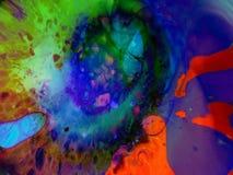 Выставка абстрактных психоделических Visuals жидкостная светлая сток-видео