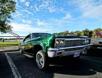 Выставка автомобиля лета классическая в городском Hastings, Минесоте стоковые фотографии rf
