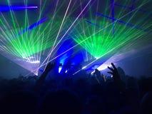Выставка лазера в клубе Стоковое Фото