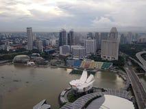 Выставка лазера песка и сада залива Марины Сингапура заливом Стоковое Фото