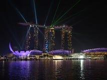 Выставка лазера песка и сада залива Марины Сингапура заливом Стоковые Фото