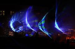 Выставка лазера с формами Стоковые Фотографии RF