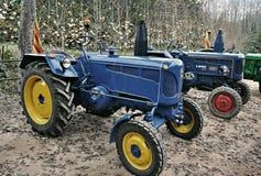 Выставка античных тракторов Стоковые Фотографии RF