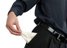 выставка бизнесмена пустая карманная Стоковые Фотографии RF