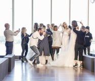 Выставка ВЕСНЫ 2017 RIVINI Bridal Стоковое фото RF