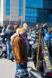 Выставка велосипедиста в Калининграде России Стоковое Фото