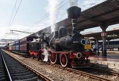 Выставка винтажных поездов Стоковые Изображения RF