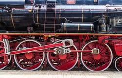 Выставка винтажных поездов Стоковая Фотография