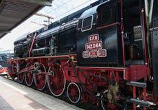 Выставка винтажных поездов Стоковые Фото