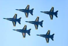 Выставка воздуха и воды Чикаго, ангелы Американского флота голубые Стоковые Фотографии RF