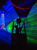 Выставка воздушного шара ночи, ³ w Ä™czà 'NaÅ, Польша Стоковые Фото