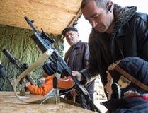 Выставка воинского оборудования в Киеве Стоковые Изображения RF