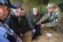 Выставка воинского оборудования в Киеве Стоковые Фотографии RF