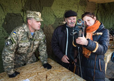 Выставка воинского оборудования в Киеве Стоковое Фото