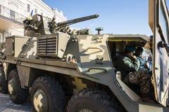 Выставка воинского оборудования в Киеве Стоковая Фотография