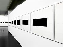 Выставка в самомоднейшем интерьере. стоковое изображение rf