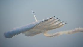 выставка двигателя образования самолет-истребителей воздуха Стоковое Изображение