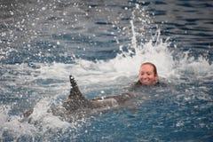 Выставка дельфина в Балтиморе, Мэриленде Стоковое Фото