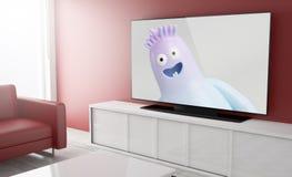 Выставка детей ТВ телевидения умная Стоковая Фотография RF