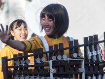 Выставка диапазона средней школы Киото Tachiba японца в известной подняла Стоковые Изображения RF