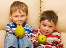 выставка друзей яблока счастливая Стоковое Изображение
