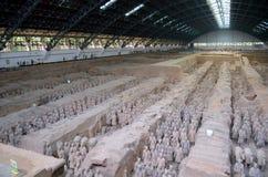 Выставка известной китайской армии терракоты в Xian Китае стоковые изображения rf