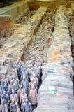 Выставка известной китайской армии терракоты в Xian Китае стоковое фото rf