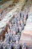 Выставка известной китайской армии терракоты в Xian Китае стоковое фото