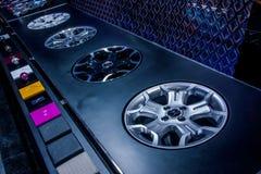 Выставка колес автомобиля Стоковое фото RF