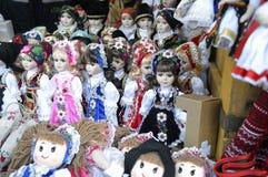 Выставка кукол, handmade Стоковое Изображение