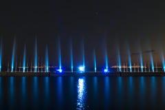 Выставка лазера в Maltepe, Турции Сцена, огонь стоковая фотография rf