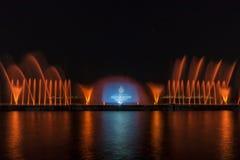 Выставка лазера в Maltepe, Турции Сцена, огонь Стоковое фото RF